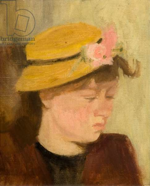 Girl in a Straw Hat, 1939-40 (oil on hardboard)