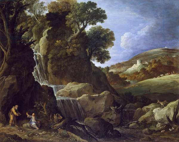 Christ Tempted in the Wilderness, 1626 (oil on canvas)