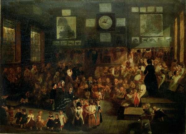 Ann Street School, Birmingham, 1855 (oil on canvas)