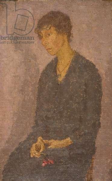 Woman Holding a Flower (Chloe Boughton-Leigh), 1908-1922 (oil on canvas)