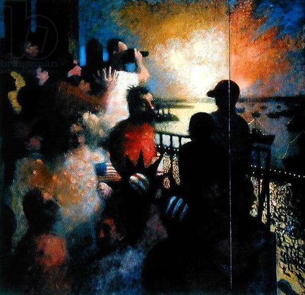 On the Balcony, 1986 (oil on canvas)