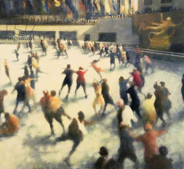 Rockefeller skaters VI, 2006 (oil on canvas)