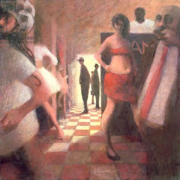 42nd Street Interior, 1988 (oil on canvas)