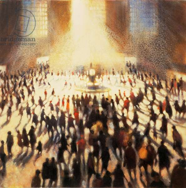 Concourse, Grand Central Station, 1996 (oil on canvas)