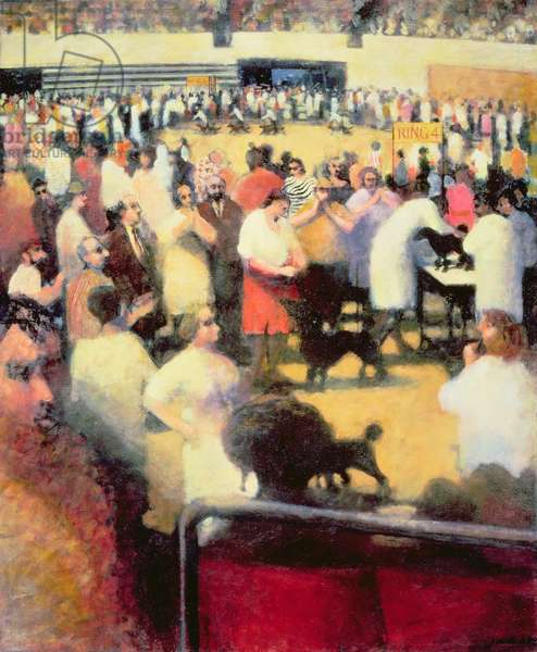 Madison Square Gardens 111th Annual Dog Show, Ring 4, 1987 (oil on canvas)