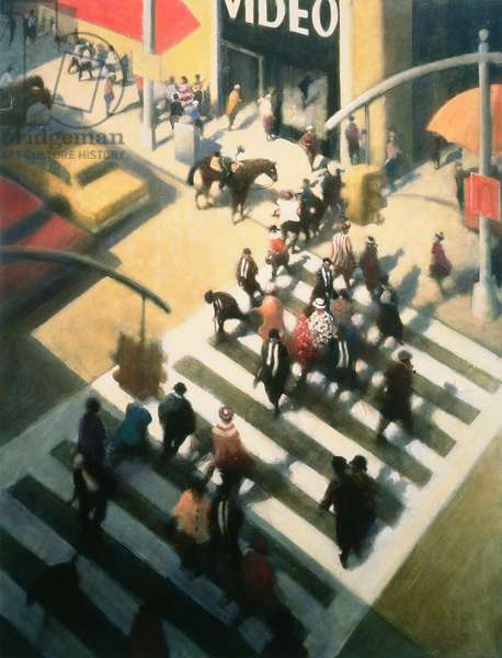 Times Square Incident I, 1998 (oil on canvas)