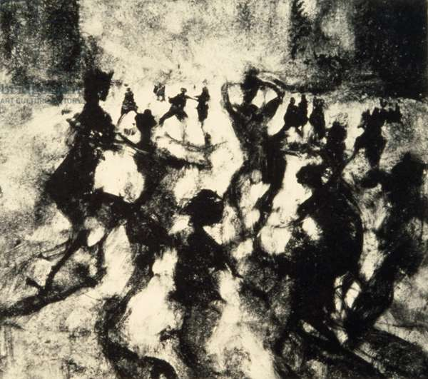 Before the Event, Great Lawn, 1999 (monotype)