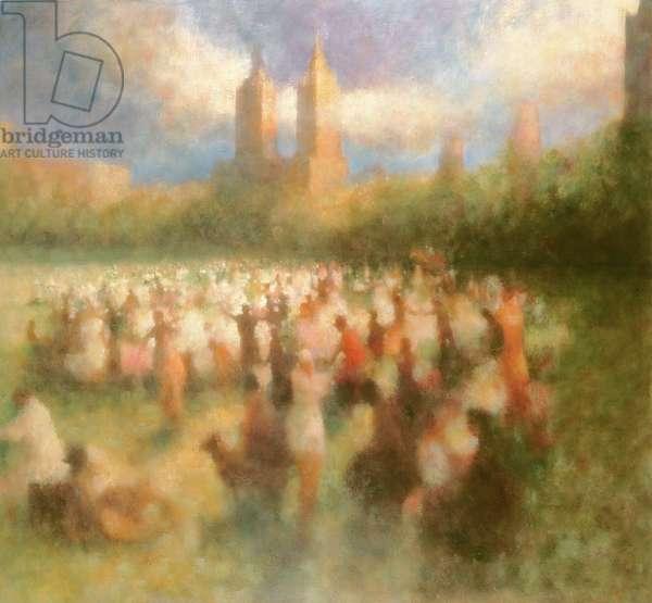 Gathering, Central Park IV, 2001 (oil on canvas)