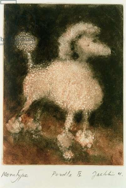 Poodle II, 2001 (monotype)