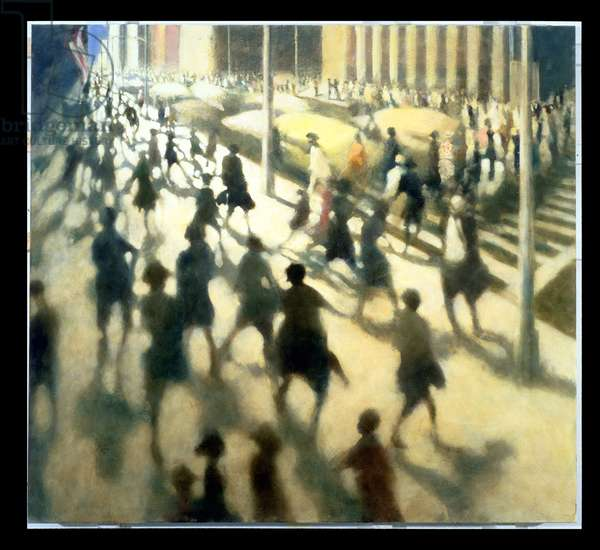 Walking Down Broadway, 1998 (oil on canvas)