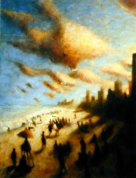By the Seashore, Coney Island (Gleaners Meeting Carthage) 1992-99 (oil on canvas)