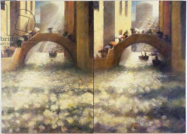 Ponte degli Ombrelli, 2004 (oil on canvas)