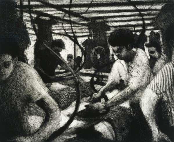 Ironers, 1997 (etching)