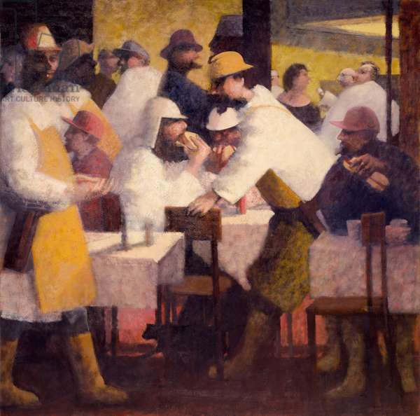 Sandwich Eaters, 1986 (oil on canvas)