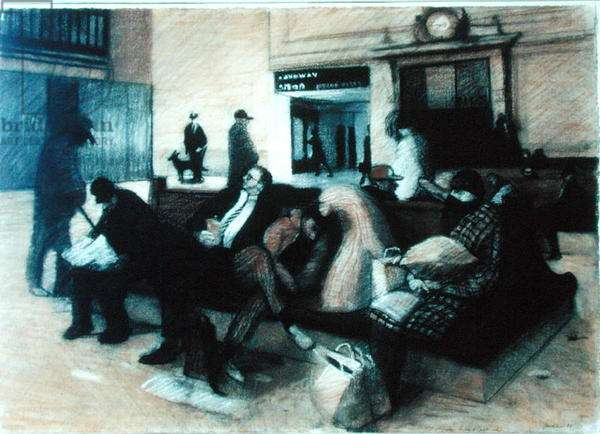 Study for Grand Central Station, 1988 (pastel on paper)