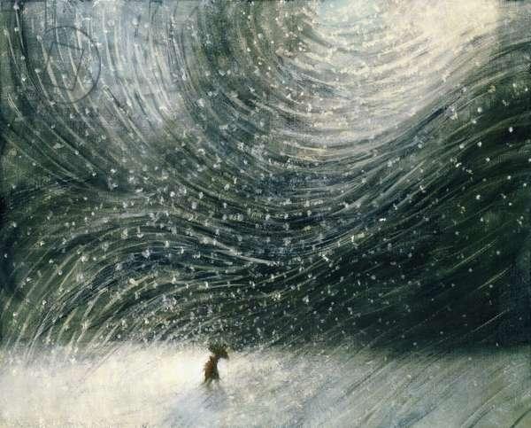 Snowy Night 1, 2008 (oil on canvas)