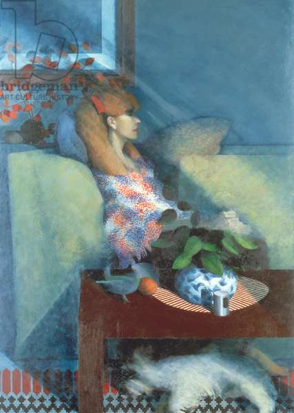 Woman with Dog, 1977-78 (oil on canvas)