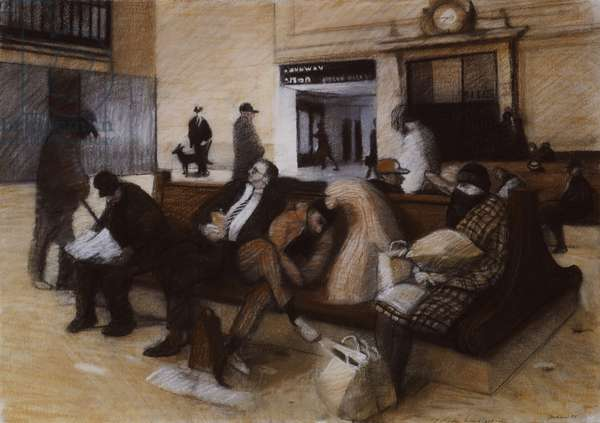 Study for Grand Central Station, 1988 (pastel)