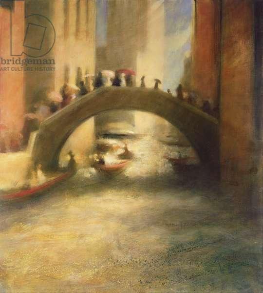 Bridge of Umbrellas, 2004 (oil on canvas)