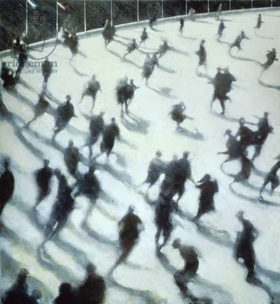 The Rink, 1990 (oil on canvas)