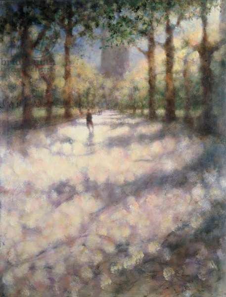 Literature Walk, Central Park VII, 2001 (oil on canvas)