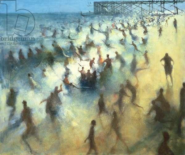 Seashore Bathers I, 1992 (oil on canvas)