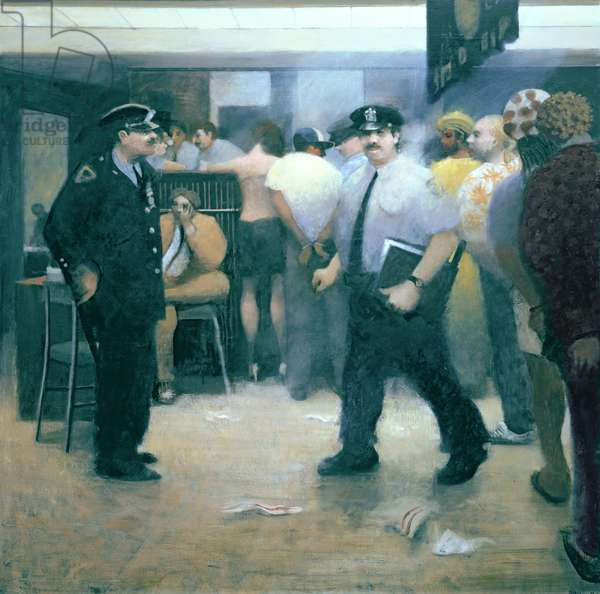 The Desk, 35th Precinct, 1988 (oil on canvas)