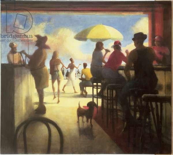 The Bar IV, 1993 (oil on canvas)