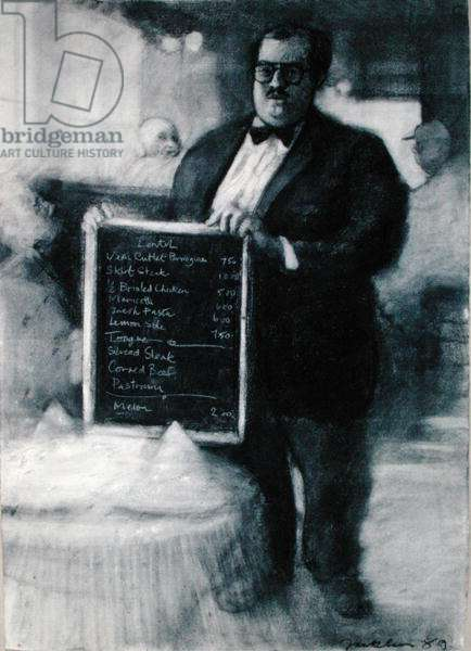 Today's Menu, 1989 (pastel on paper)