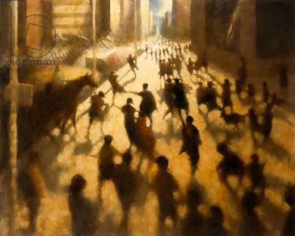 Broadway Encounter III, 2001 (oil on canvas)