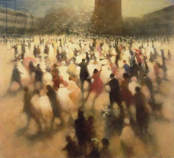 Incident in the Square II, 2004 (oil on canvas)