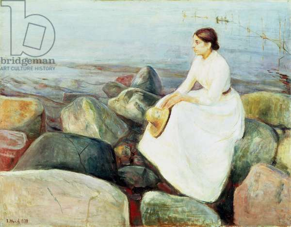 Inger on the Beach, or Evening (Summer Night at the Seashore, 1889)