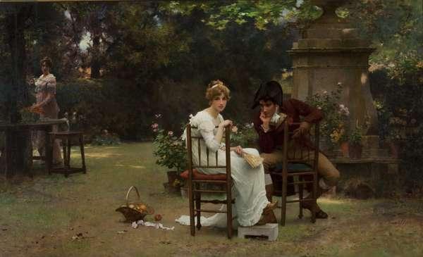Two's Company, Three's None, 1892 (oil on canvas)