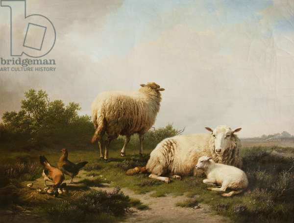 Landscape with Sheep, 1867 (oil on canvas)