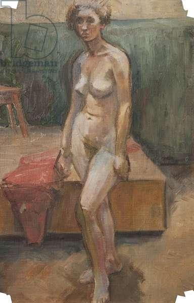 Nude, c.1971 (oil on canvas)