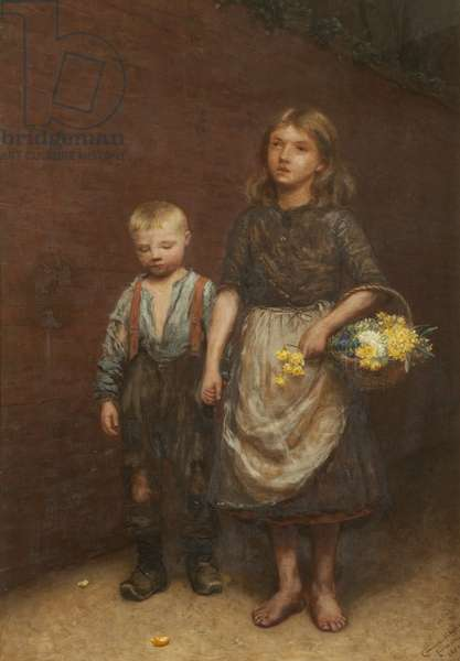 Won't You Buy My Pretty Flowers, 1887 (oil on canvas)
