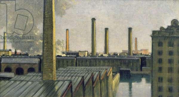 Seven Chimneys (oil on canvas)