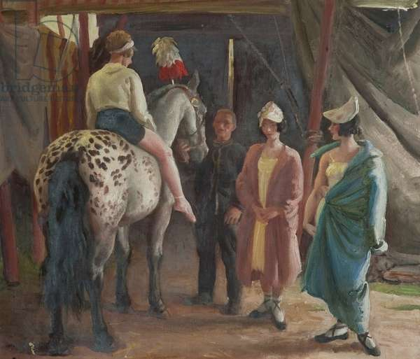 Ready to Show (oil on canvas)