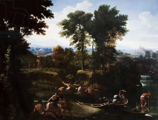 Classical Italian Landscape, c.1675-80 (oil on canvas)