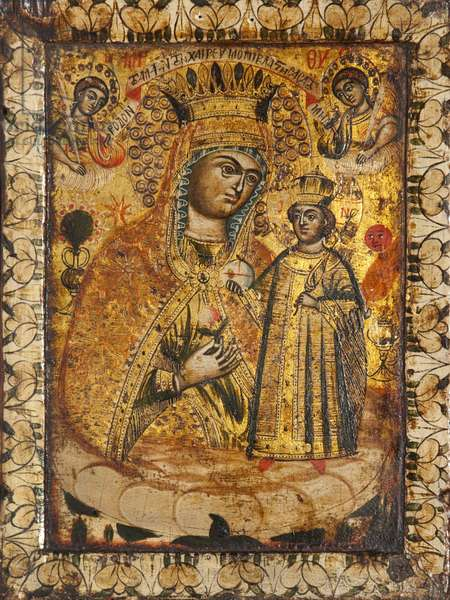 The Virgin of the Unfading Rose (tempera on panel)