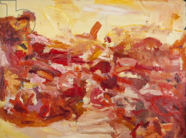 Red Abstract (oil on canvas)