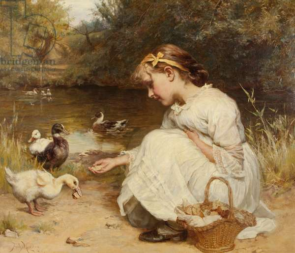 Making Friends, 1885 (oil on canvas)