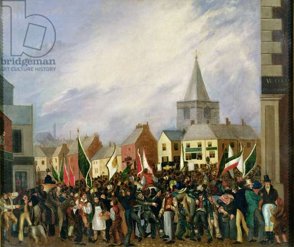 Blackburn Market Place, 1832 (oil on canvas)