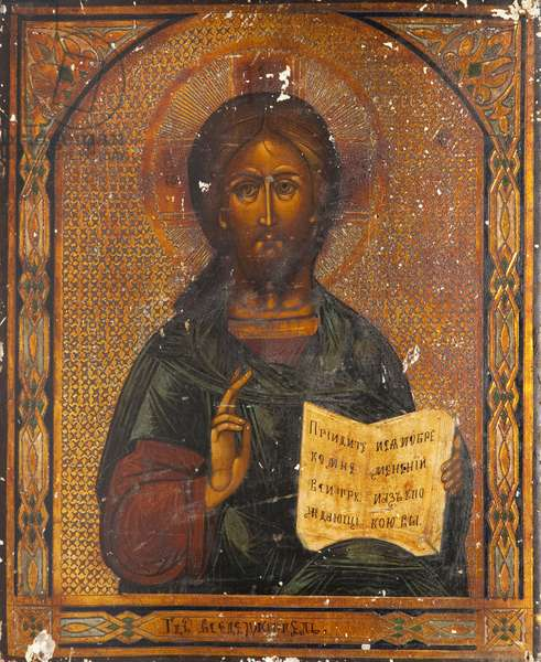 Christ Vsederzhitel (tempera on panel)