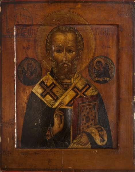 Saint Nicholas (tempera on panel)