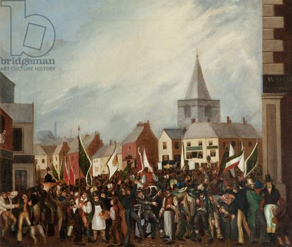 The 1832 Blackburn Election, c.1832 (oil on canvas)