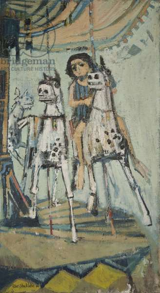 Merry Go Round, 1962 (oil on board)