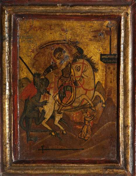 Saint George and the Dragon (tempera on panel)
