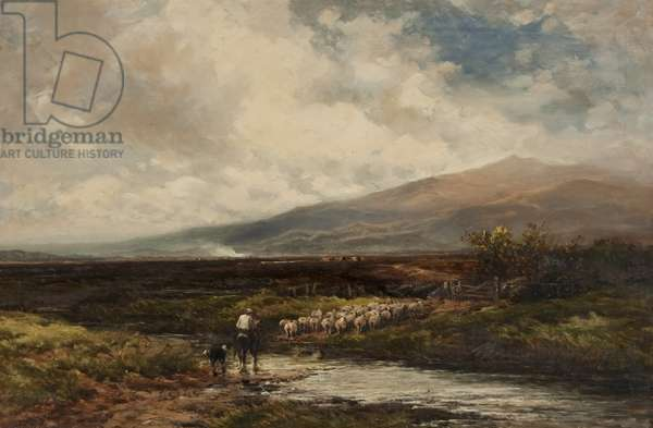 On a Yorkshire Moor, c.1899 (oil on canvas)
