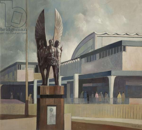 New Market Construction, Blackburn, 1965 (oil on canvas)